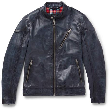 Belstaff Maxford 3.0 Burnished-Leather Jacket