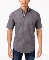 Club Room Men's Micro-Check Short-Sleeve Shirt, Only at Macy's