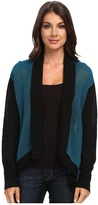 "Adrianna Papell Amelia"" Open-Front Cardigan w/ Color Blocked Trim"