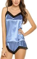 Goldenfox Womens Sleepwear Satin Pajama Cami Set Sexy Nightwear