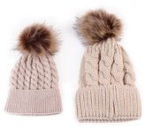 Alizzee 2PCS Parent-child Hat Warmer ,1 Pair Mom And Baby Knitting Cap Keep Warm Hat, Winter Knitting Keep Warm Hat Sport Cap