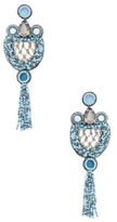Deepa Gurnani Beaded Tassel Statement Earrings