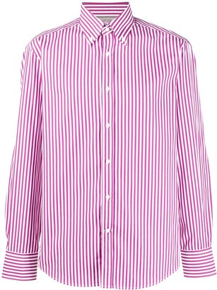 Brunello Cucinelli Candy Striped Cotton Shirt