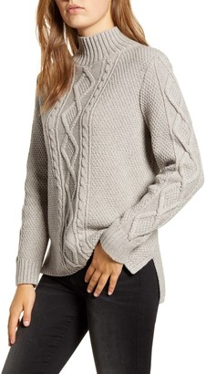 Lucky Brand Cable Knit Mock Neck Sweater