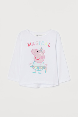 H&M Printed jersey top