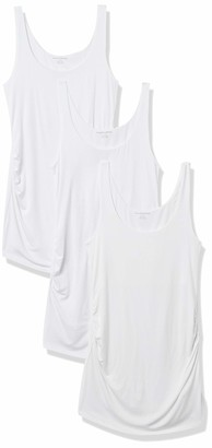 Amazon Essentials Women's Maternity 3-Pack Rouched Tank Top