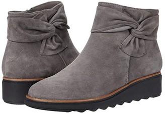 Clarks Sharon Salon (Grey Suede/Dark Tan Welt) Women's Boots