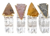 Mapleton Drive Napkin Rings with Agate Arrowhead (Set of 4)