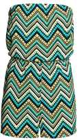 H&M Strapless Jumpsuit - Turquoise/zig-zag - Ladies