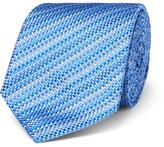 Turnbull & Asser 8cm Striped Silk-Jacquard Tie