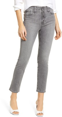 AG Jeans The Isabelle High Waist Button Front Ankle Straight Leg Jeans