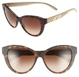 Burberry Women's 56Mm Cat Eye Sunglasses - Matte Black