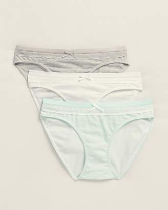 St Eve 3-Pack Lace Inset Bikini Panty