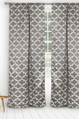 Duck River Textile L'kyra Geometric Blackout Curtain Set - Grey