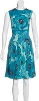 Lela Rose Pleated Midi Dress
