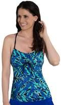 Dolfin Women's Dolfin Aquashape Bust Enhancer Tie-Font Tankini Top