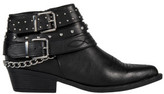 R & E RE: Studded Chain Trim Ankle Boots