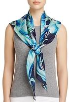 Echo Palm Printed Silk Triangle Scarf