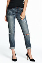 Lands' End Women's Slouchy Slim Jeans-Light Wash Denim