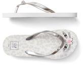 Gap Metallic cat flip flops