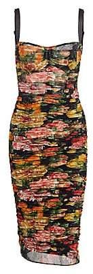 Dolce & Gabbana Women's Sleveless Tulle Floral Dress