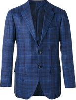 Kiton checked blazer - men - Silk/Linen/Flax/Cupro/Cashmere - 50