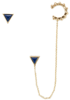 House Of Harlow Native Legend Stud Earring & Ear Cuff Set