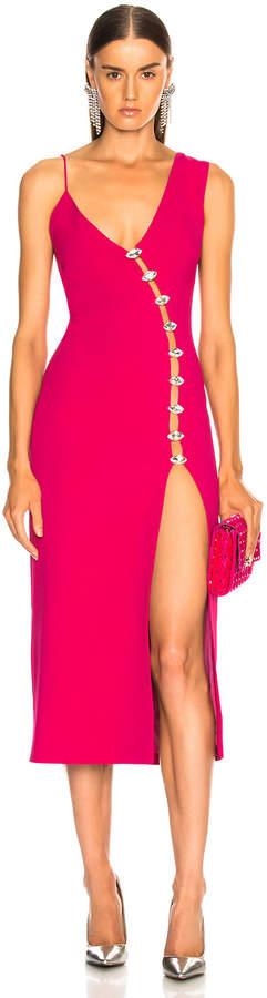 David Koma Side Slit Midi Dress