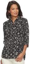 Croft & Barrow Women's Print Popover Shirt