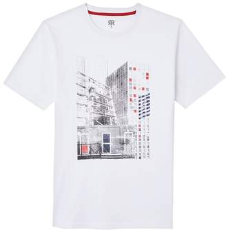 La Redoute Collections Cotton Print T-Shirt with Short Sleeves