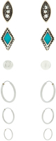 Accessorize Ethnic Stud & Hoop Earring Pack