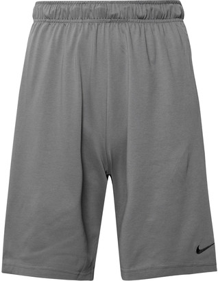 Cotton-Blend Dri-Fit Shorts