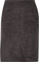 Halston Faux suede skirt