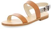 Jil Sander Navy Flat Leather Sandal
