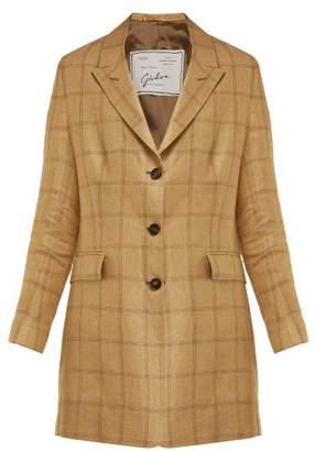 Giuliva Heritage Collection The Karen Single-breasted Linen Blazer - Womens - Beige Multi