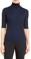 Classiques Entier Merino Wool Blend Two-Tone Ribbed Turtleneck