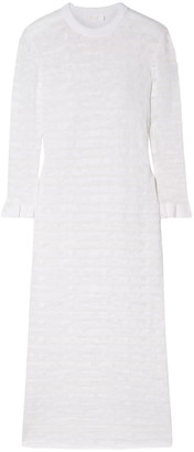Chloé Pointelle-knit Cotton-blend Midi Dress