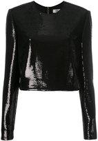 Diane von Furstenberg sequin top - women - Nylon/Polyester/Spandex/Elastane - 8