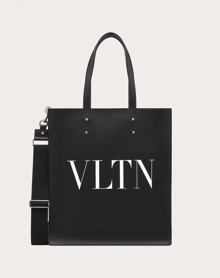 Thumbnail for your product : Valentino Garavani Uomo Vltn Leather Tote Bag Man Black/white 100% Pelle Bovina - Bos Taurus OneSize