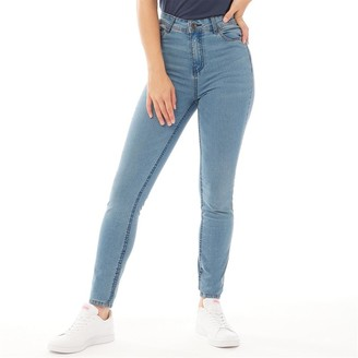 Bench Womens Fay Skinny Fit Jeans Light Wash