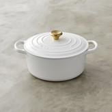 Le Creuset Signature Cast-Iron Dutch Oven with Gold Knob