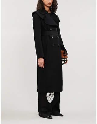 Lanvin Heart-shaped lapel double-breasted wool coat