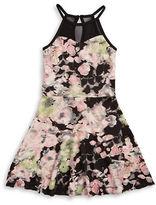 Sally Miller Girls 7-16 Floral Lace Halter Dress