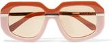 Karen Walker Square-frame acetate sunglasses
