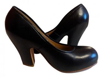 Bernhard Willhelm Black Leather Heels