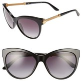 Versace Women's 57Mm Cat Eye Sunglasses - Black
