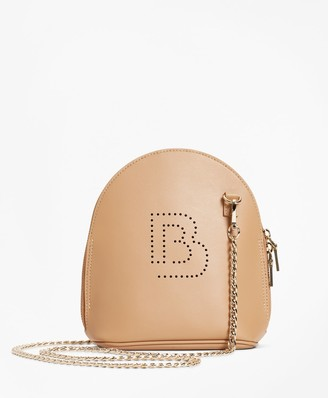 Brooks Brothers Logo-Embellished Leather Crossbody Bag