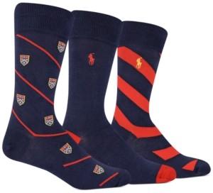 Polo Ralph Lauren Men's 3-Pk. Bias Crest Slack Socks