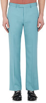Gucci Men's Wool-Mohair Crop Trousers-Turquoise