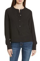 Theory Women's Isalva Classic Georgette Silk Blouse